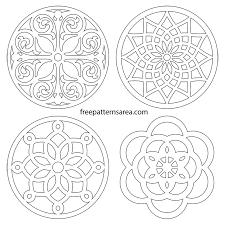 Free Scroll Saw Patterns Cool Circle Trivets Vector Coaster Scroll Saw Patterns FreePatternsArea