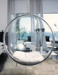 Chic Teen Girl Room With Bubble Hanging Chair Contemporary Regard To