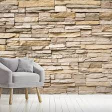 stacked stone wall wall mural