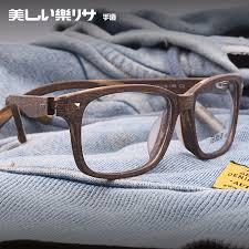 get ations salome japanese literary retro wood frame glasses optical frames finished with myopia plain men and women