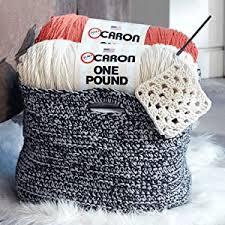 Caron One Pound Solids Yarn 4 Medium Gauge 100 Acrylic 16 Oz Black For Crochet Knitting Crafting