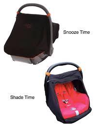 snoozeshade for infant car seats classic black w orange trim