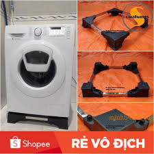 Chân đế máy giặt cửa ngang - Kệ máy giặt - Đế máy giặt Electrolux trụ bê  tông cao cấp - BH 2 năm - Phụ kiện giặt ủi Nhãn hàng No Brand