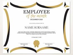 Employee Of The Month Award Employee Of The Month Editable Template Editable Award Employee Of The Month Printable Template Pdf Instant Download D106
