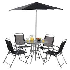 tesco hawaii 6 piece garden furniture set table with 4 chairs parasol