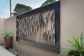 outdoor wall decor ideas modern art iron design of outside metal intended for 9