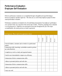 Sample Employee Self Evaluation 9 Examples In Pdf Word