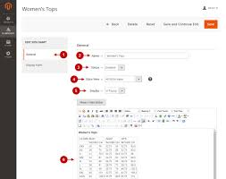 Html Font Size Chart Magento 2 Size Chart V2 X Configuration