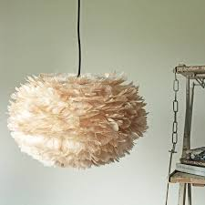light brown goose feather pendant lampshades
