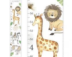 Amazon Com Safari Growth Chart Jungle Growth Chart Canvas
