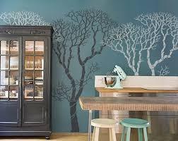winter tree stencil