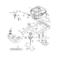 Craftsman riding mower engine diagram craftsman model lawn tractor genuine parts of craftsman riding mower engine