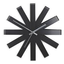 <b>Часы настенные</b> Umbra <b>Ribbon чёрныe</b> — купить в интернет ...