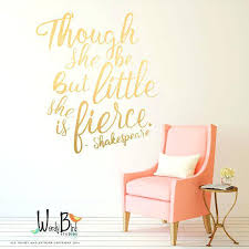 quote wall decal for the nursery or baby room rose gold stickers nz