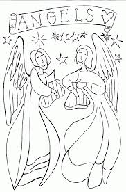 Free Guardian Angel Coloring Pages Angel Color Page Free Angel
