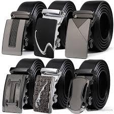 who designs belt men s leather brown belt waist strap belts automatic buckle black leisure business leather belts for men custom made