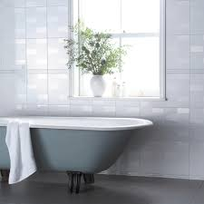 With its subtle lustre appearance, the Highgate Deco White & Silver Strip  tile is the perfect border to match with the Highgate White wall tile as  part of a ...