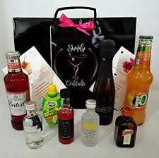simply tails star martini cosmopolitan tail gift bag set amazon co uk beer wine spirits