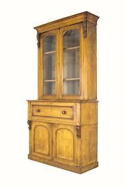 b304 antique scottish victorian oak secretary fall front desk bookcase