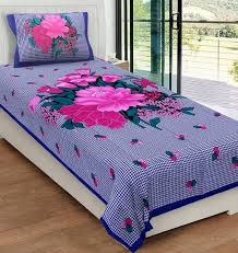 cotton bed sheets. Wonderful Bed Metro Living 104 TC Cotton Single Floral Bedsheet For Bed Sheets N