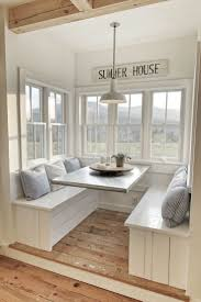 classy kitchen table booth. I Love This Kitchen Nook With Windows. Such A Pretty Interior Design  #homedecor #homedesign #interiordesign #artdeco Classy Table Booth