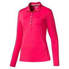 puma 2 piece set womens. puma womens longsleeve golf polo shirt 2 piece set 1
