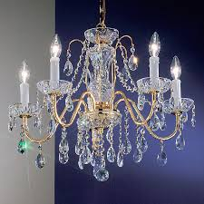 classic lighting daniele 22 in 5 light gold plated crystal crystal candle chandelier