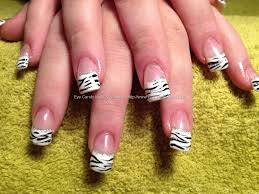 Eye Candy Nails & Training - Acrylic nails with zebra print and ...