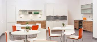 office kitchen. modern office kitchen with concept photo