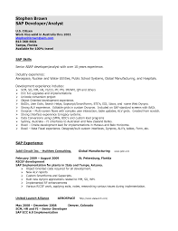 sap abap resume years experience cipanewsletter resume abap developer sap sd sample resume musteline resume