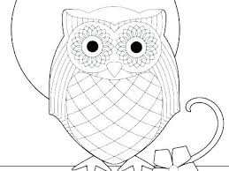 Owl Coloring Pages For Kids Domlinkovinfo
