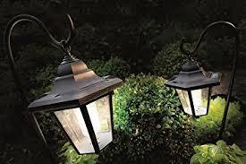 garden lights amazon. 2 X Solar Coach LED Lanterns Garden Lights With Shepherd\u0027s Hooks Amazon M