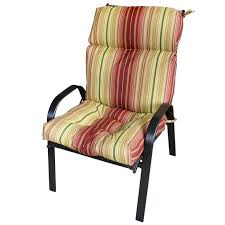 remarkable patio chair pads with fancy outdoor high back chair cushions highback garden dining