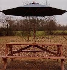 innovative picnic table with umbrella hole
