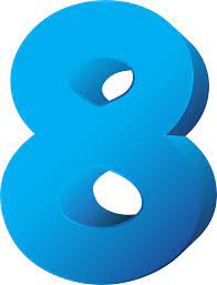 Download Blue Number Eight Transparent Png Clip Art Imageu200b - Eight Clipart Transparent PNG Image with No Background - PNGkey.com