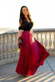 Gorgeous maxi skirts outfits ideas Crop Top Beautiful Long Cherry Red Pleated Skirtgorgeous Outfit Ideas Pinterest Beautiful Long Cherry Red Pleated Skirtgorgeous Outfit Ideas