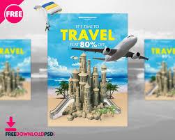 Travel Flyer Template Freedownloadpsd Com