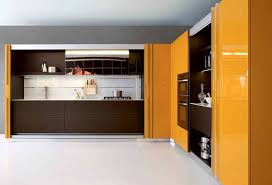 modern kitchen design trends 2012. contemporary kitchen cabinets in brown and yellow colors modern design trends 2012