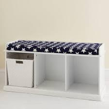White bench storage white storage bench with cushion paterson