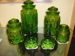 canisters excellent green glass canister set antique green glass canister set 6 set glass canister