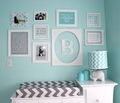 Aqua and Gray Chevron Nursery