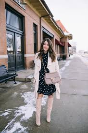 a polka dot dresy favorite trench coat for spring