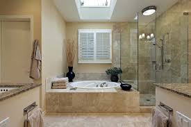 cost to remodel master bathroom. Photo 4 Of Bathroom, Luxury Master Bath With Skylight Over Tub: Budget Cost To Remodel Bathroom