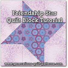1670 best Quilt blocks images on Pinterest   Patchwork quilting ... & Friendship Star Quilt Block Instructions in 5 sizes Adamdwight.com