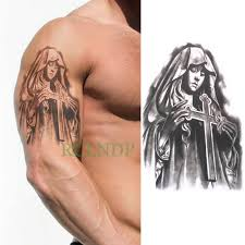 1 шт большие классные мужские крестообразные татуировки красивые