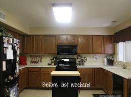 kitchen lighting replace fluorescent light fixture in kitchen cylindrical brown global inspired fabric orange backsplash countertops islands flooring