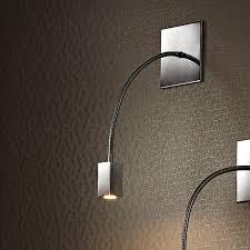 square recessed material gooseneck flexible hotel headboard reading wall lamp