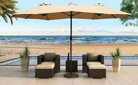 patio table umbrellas.  Patio Our Outdoor Patio Umbrellas Are Styled With The Classic And Elegant Look  That Accents Any Setting Featured Fade Mildewresistant Canopy  On Patio Table Umbrellas T