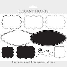 Frames Clipart Elegant Frames Ornate Flourish Frames Vintage