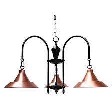 barea a copper 3 arm light fitting